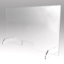 80cmx60cm Transparent Acrylic Sneeze Guard Plexiglass Glass Shield