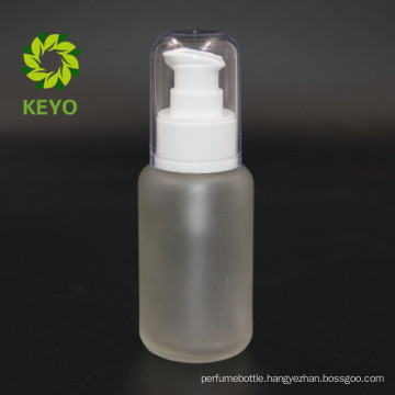 wholesale empty frosted sprayer pump glass cosmetics jar bottle