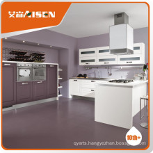 High Quality wooden kitchen cabinet Wooden color PVC membrane kitchen