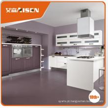 Armário de cozinha de madeira de alta qualidade Cozinha em madeira de membrana de PVC