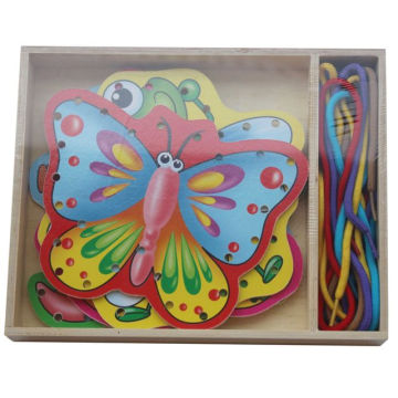 Educational Wooden Lacing Puzzle Wooden Toys
