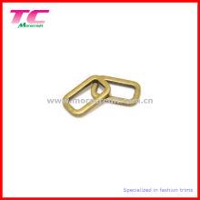 Bucle oval de metal latón sólido para el bolso