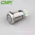 Interruptor LED de metal que enclava el pulsador