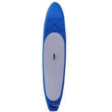 Blaues aufblasbares laufendes Sup-Brett stehen oben Radschaufel-Brett-Surfbrett