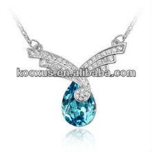 2014 dernière conception ange aigle gemme en cristal strass collier bijoux