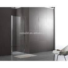 K-537 Simple Square aço inoxidável 304 chuveiro de vidro com dobradiço chuveiro italiano