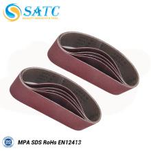 Bande de sable flexible et de haute qualité pour le broyage de matériel