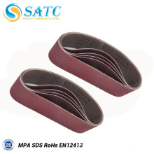 top quality abrasive silicon carbide sanding belt for leather polishing