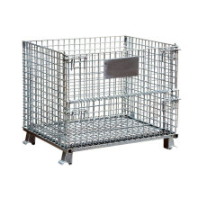 Steel Wire Mesh Storage Stacking Display Cage Stand with Wheels