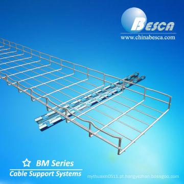Bandeja de cabo galvanizada da cesta do suporte do fio de aço - Cablofil