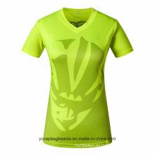 Venta al por mayor Ladies or Women Jersey V-Neck T-Shirts
