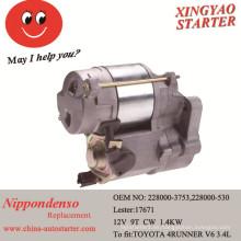 Motor diesel usado arrancador de coche electrónico para Toyota T100 Pickup (228000-3753)