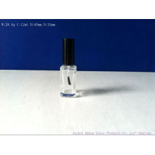 12ml Glass Nail Polish Oil Bottles with Cap and Brush