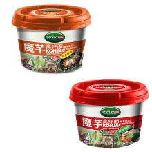 Shirataki instantánea taza de fideos con baja en calorías bueno para la salud