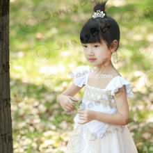 baby girl boutique white bow fancy easter dresses