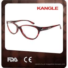 2017 Top venda elegância Óculos e óculos ópticos Lady acetato