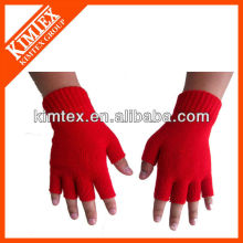 2015 Unisex wholesale acrylic custom knitted drinking gloves