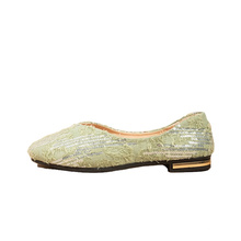 green crystal casual shoes fashion comfortable woman shoes