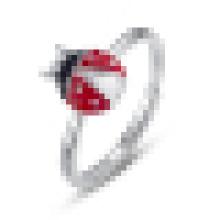 925 стерлингового серебра Божья коровка палец животных кольца для женщин свадьба обручальное кольцо ювелирные изделия Анель feminino