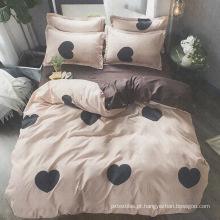 jogo de cama em poliéster e estampado