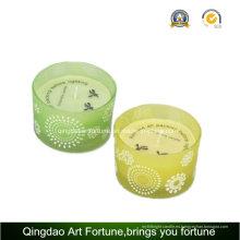 Cristal vaso recipiente citronela vela para jardín Home Decor