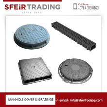 EN124 B125 Round Ductile Cast Iron Manhole Cover