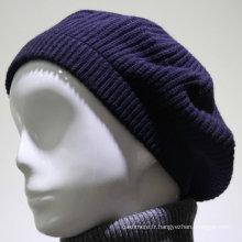 Usine approvisionnement hiver tricoté en gros cachemire tricoté chapeau beanie