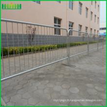 Barrière rétractable barrière de contrôle de foule en acier portatif