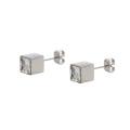 E-332 xuping design carré incrusté strass en acier inoxydable dames boucles d'oreilles