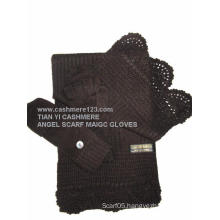 100% Cashmere Angel Set: Scarf Magic Gloves