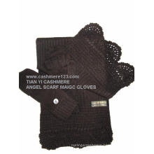 100% Cashmere Angel Set: Scarf Magic Gloves