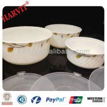Cuencos De Almacenamiento De Alimentos De Vidrio Opal Set Con Protección Ambiental Tapa De PP / Contenedor De Alimentos Para Refrigerador Uso De Horno De Microondas