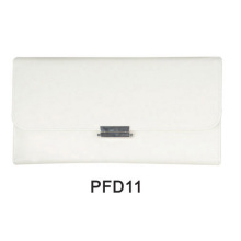 White makeup PU bag with button
