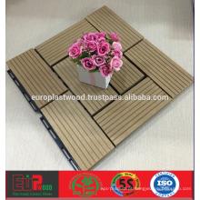 Preço barato para azulejos WPC decking para uso externo, 100% reciclável, resistente a UV, impermeável Dimentional stable, fácil instalação