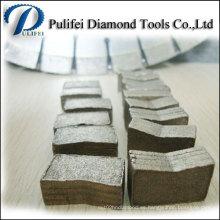 Segmento grande del diamante de los dientes del corte de múltiples capas del tamaño para el mármol del granito