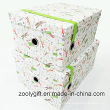 Customized Paper Storage Gift Box with Elastic Band