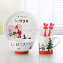 conjunto de cena de 5 niños de porcelana para regalo de navidad