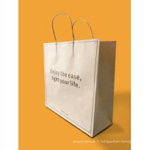 Sac de papier fait sur commande de Kraft / sac à provisions de papier / sac de papier de cadeau