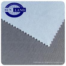 Fábrica china de bambú poliéster de carbono antibacterial en seco tejido de malla birdeye para ropa deportiva
