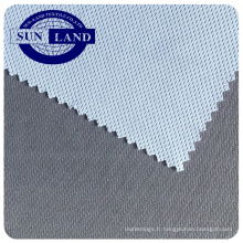 Usine chinoise bambou carbone polyester antibactérien ajustement sec tricot birdeye tissu pour sportswear