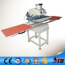 Machine pneumatique automatique de presse de la chaleur de double station