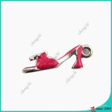 Breloque en cuir rouge à talon haut émail Lady (SPE)