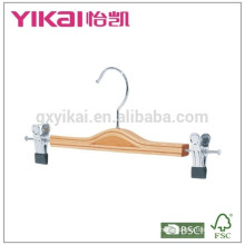 Beautiful flat skirt laminated clothes hanger with metal clips