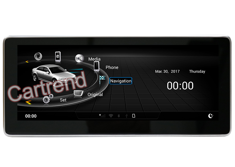 10.25 inch Audi Android touch screen GPS navigation multimedia player