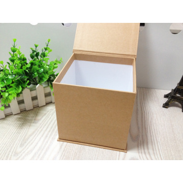 Silk Print Natural Buffalo Paper Book-shaped Gift Box