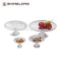 P008 Banquet Plástico Acrílico Chrysanthemum Pattern Food Display Stand