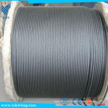 Cuerda de alambre Tipo de clip AISI 316 Acero inoxidable 7x7 3.2mm