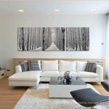 Salon intérieur mur décoratif en verre peinture paysage naturel