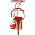 Последний Чэнду Красный высокий каблук сандалии для женщин девушки и дамы