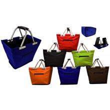 600d poliéster dobrável cesta de compras à venda (sp-306)